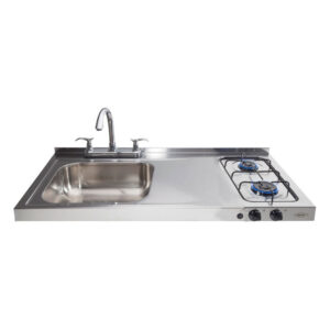 Haceb 2burner Hob Sink Left