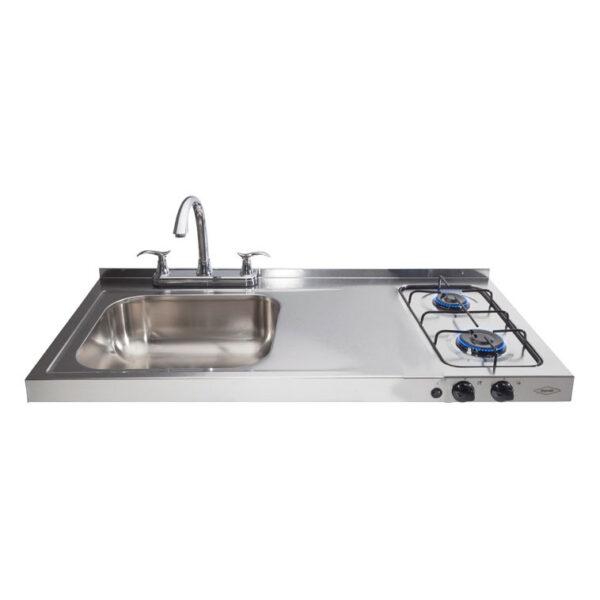 Haceb 2burner Hob Sink Left