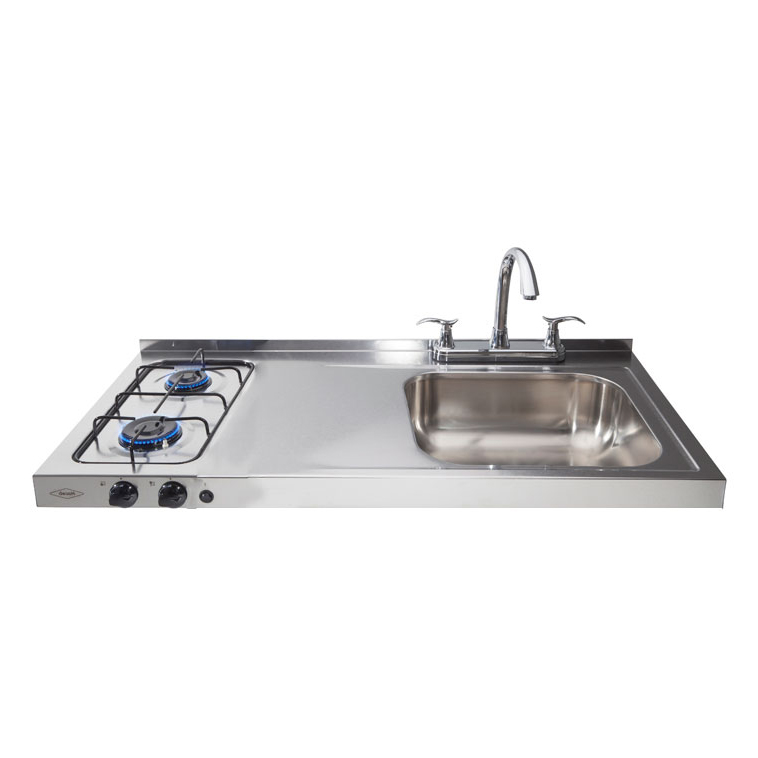 Haceb 2burner Hob Sink Right